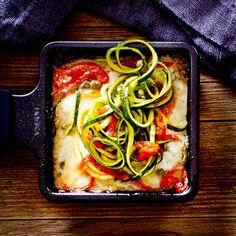 Auch fürs Raclette-Essen sind Zucchininudeln eine tolle Idee!