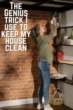 The stupid simple trick I use to keep my house clean with little effort or stress. #cleaning #momlife #cleaningtips #cleaninghacks