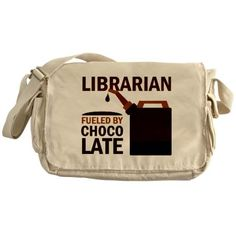 Great gift for the librarian - messenger style ragged edge library book bag.