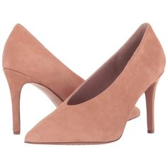 Steven Aiken (Sand Suede) Women's Shoes ($139) ❤ liked on Polyvore featuring shoes, pumps, suede pointy toe pumps, sand pump, pointed toe stiletto pumps, suede slip on shoes and steven shoes