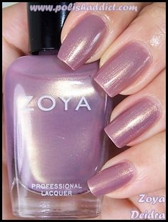I have noticed, especially on Soft Summer women, a nail polish with a pearl finish is just beautiful, particularly when combined with their soft colors. This shade is Zoya Deidra: