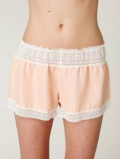 Soft semi-sheer bloomers with crochet trim and elastic waistband.    *100% Polyester   *Hand Wash   *Made in USA