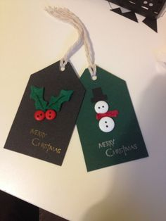Button Christmas Gift Tags