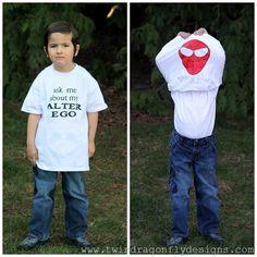 Superhero Flip T-shirt Tutorial {Kids Craft} - seven thirty three