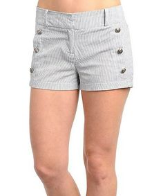 Love this Black & White Stripe Shorts on #zulily! #zulilyfinds