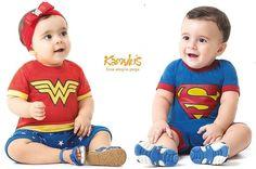 Macacão Mulher Maravilha ou Superman - Kamylus http://www.piabebeecrianca.com.br/macacao-mulher-maravilha-ou-superman-kamylus