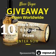 Vapour UK - Black Note Giveaway