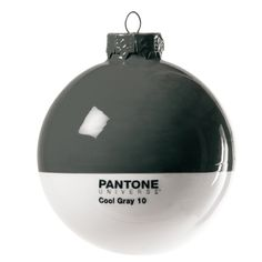 Add some design flair to your tree with this fantastic Pantone glass bauble in Cool Grey 10 Nordic Christmas, Modern Christmas, Holiday Ornaments, Christmas Decorations, Holiday Decor, Ornaments Making, Ball Ornaments, Christmas Balls, Christmas Time