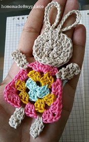 Transcendent Crochet a Solid Granny Square Ideas. Inconceivable Crochet a Solid Granny Square Ideas. Easter Crochet Patterns, Crochet Bunny Pattern, Crochet Rabbit, Crochet Motifs, Granny Square Crochet Pattern, Crochet Squares, Crochet Diy, Crochet Amigurumi, Crochet Gifts