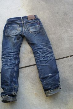 worn iron heart denim jeans