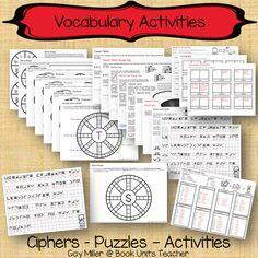 Free Vocabulary Printables