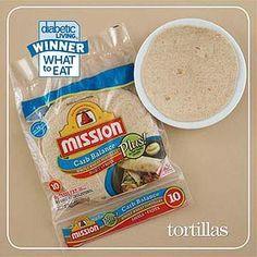 Best Tortilla Winner - Diabetic Choice - based on calories - fat - sodium - carbs - fiber - taste