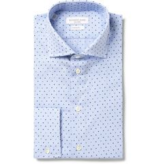 Richard James Blue Printed Cotton-Poplin Shirt | MR PORTER