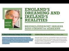 Mary's University College, Mon Aug, Fintan O'Toole argues that the upheavals over Brexit are symptoms of a deeper shift in the architecture of th. Ireland, University, College, Youtube, Irish, Youtubers, Community College, Youtube Movies, Colleges
