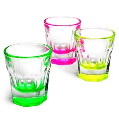 Casablanca Neon Shot Glasses 1.2oz / 35ml
