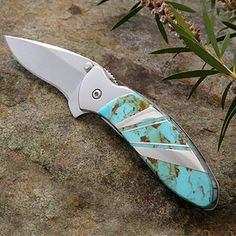 turquoise pocket knives - Google Search