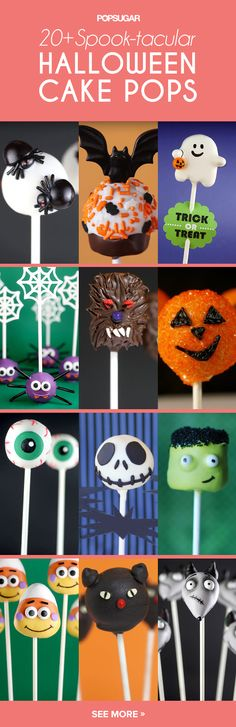 20 Spook-tacular Halloween Cake Pops These Halloween cake pop recipes for kids are perfect for Halloween parties. Halloween Cake Pops, Dulces Halloween, Postres Halloween, Halloween Sweets, Halloween Baking, Halloween Goodies, Halloween Birthday, Halloween Kids, Halloween Parties