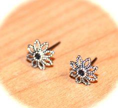 Flower Stud Earrings - Flower Cartilage Earrings, Helix Studs, Tragus Studs, Large studs, Body Piercings on Etsy, $13.95
