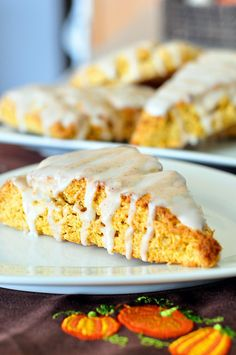 Pumpkin Scones by Pennies on a Platter