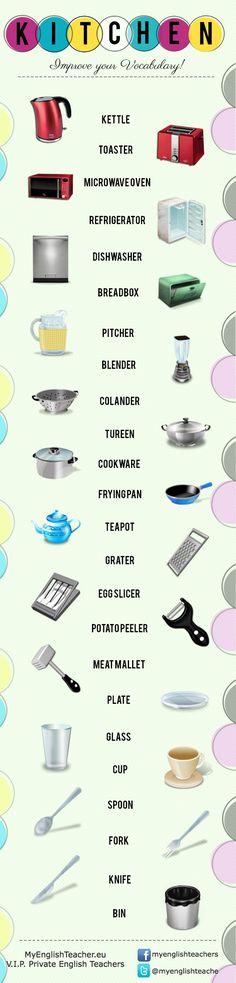 Pour bien connaitre les #ustensiles de cuisine #anglais