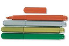 Set de 4 feutres couleurs de fêtes pour écrire des petits mots