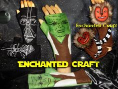 Fleece Fingerless Gloves for Star Wars Fans choose YODA