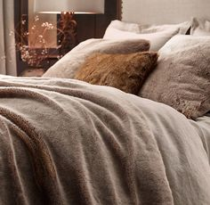 Luxe Faux Fur Blanket at Restoration Hardware in Mink... A girl can dream right