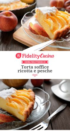 Torta soffice ricotta e pesche Italian Desserts, Just Desserts, Italian Recipes, Torte Cake, Sweet Bread, Cake Cookies, Biscotti, Bakery, Cheesecake