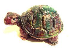 Turtle Stone. Hippy Adorable Turtle. ooak by MountainArtCasting, $27.95