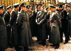 ✠ Alfred Jodl, Heinz Guderian, Wilhelm Keitel, Adolf Hitler, Karl-Otto Saur at Rügenwalde, Germany, 18-19 Mar 1943 ✠