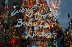 shop window writing