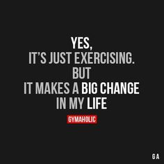 Yes It's Just ExercisingBut it makes a big change in my life.http://www.gymaholic.co Complete Lean Belly Breakthrough System http://leanbellybreakthrough2017.blogspot.com.co/