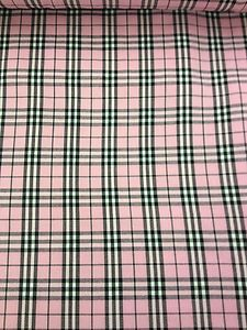 Gorgeous Funky Pale Pink, Black & White Check Tartan Wool Fabric! 150cm Wide! £5.99 per metre #pink #checked #tartan #fabric #material #remnant