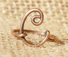 Wire Letter C Ring