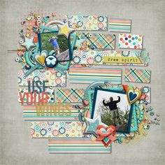 Digital Scrapbook Page by Teresa | Free to Fly by Bella Gypsy Designs