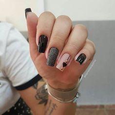 2019 Beautiful Nail Designs for Fall - Uñas esmalte permanente - Unhas Stylish Nails, Trendy Nails, Cute Nails, Fall Nail Designs, Beautiful Nail Designs, Rock Nails, Pink Nail Art, Manicure E Pedicure, Nagel Gel