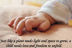 Just like a plant needs light and space to grow, a #child needs #love and freedom to unfold. www.delhi-ivf.com