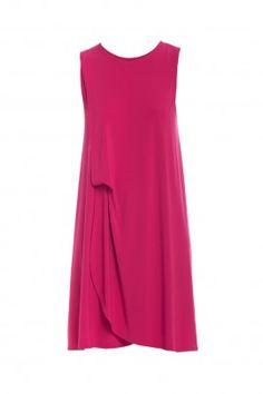 Sukienka z drapowaniem amarant