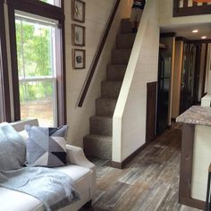 Best tiny house designs best cool loft stair design ideas for space saving 8 tiny house . Small Staircase, Tiny House Stairs, Loft Stairs, Tiny House Living, Living Room, Space Saving Staircase, Best Tiny House, Tiny House Plans, Tiny House On Wheels