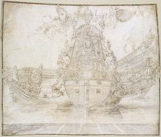 Design for the decoration of a Warship, Pierre Puget