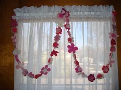 69 inch FLOWER GARLAND Felted Pink Petal Little Girl Princess Eye Candy Birthday Party Room Decor indoor Chic Shabby Baby Shower Cottage. $16.00, via Etsy.