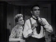 """Shirley Booth and Anthony Quinn in """"Hot Spell"""" 1958"""