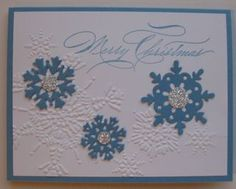 12/7/11 blogspot - I love the Northern Flurry embossing folder!  It's too bad it was retired.