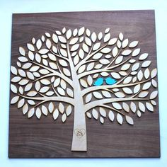 Tree of Life DIY Kit Wooden Wedding Guestbook Alternative