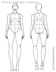 plus size croquis | have also redone the Basic Male and Female croquis I posted earlier ...