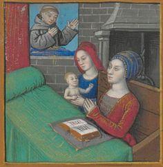 BONAVENTURE (saint), card. O.F.M. Vie et miracles de saint François d'Assise  Date d'édition :  XVe siècle, vers 1480  NAF 28640  Folio 134v