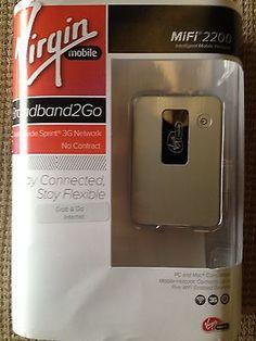 NEWNovatel Wireless MiFi 2200 Prepaid Mobile Hotspot Virgin Mobile BroadbandWifi