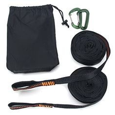 DOHOT 1100 LBS Lightweight Tree Friendly Camping Heavy Duty Adjustable Hammock Strap with Carabiners,Best Portable Strap System With Fast And Easy Setup - (Set of Feet Loops) Hammock Straps, Hammocks, Camping, Amazon, Easy, Stuff To Buy, Accessories, Campsite, Amazons
