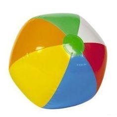 "24 Mini BEACH BALLS/6-Panel Traditional Style Rainbow 6"" BEACHBALLS ..."