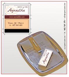 """Propuesta diseño cajas de cerillas modelo """"Hotel"""" para el restaurante Aynaelda en Madrid."""